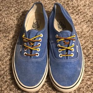 Vans Cobalt Blue w/ Brown & Yellow Laces - Unisex